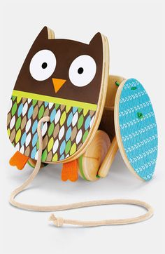 Skip Hop Treetop Friends - Flapping Owl Pull Toy