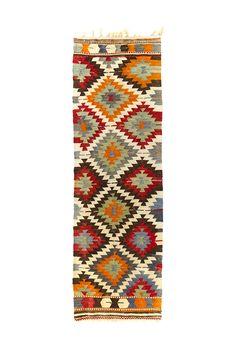 "2'3"" x 7'3"" Vintage Turkish Anatolian Kilim"
