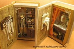 Upcycle old books into doll room or shadow boxes.