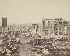 Acropolis, Propylaea and Erechtheum - A. D. White Architectural Photographs, Cornell University Library, #solebike, #Athens, #e-bike tours
