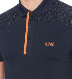 HUGO BOSS - Geometric-pattern jersey polo shirt | Selfridges.com