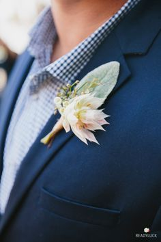 Love the nontraditional boutonniere
