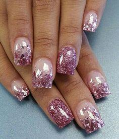 Base + Glitter rosado