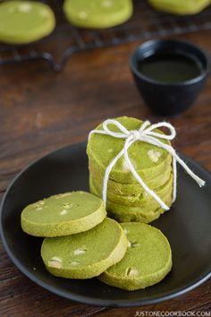 Green Tea Cookies (抹茶クッキー) | Easy Japanese Recipes at JustOneCookbook.com