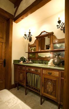 To big for the powder room but maybe need to redecorate the master bathroom