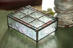 Vintage Multi-Colored Glass Art Box