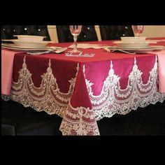 Fransız danteli masa örtüsü iletişim için tuba-emir-han@hotmail.com