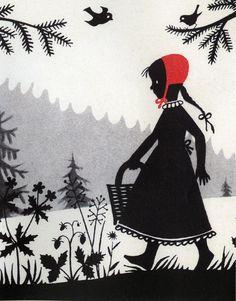 Divica Landrova's illustration for Little Red Riding Hood