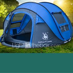 HUILINGYANG 4 person Pop up tent Outdoor Waterproof