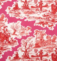 VIETRI Fuschia/Red Toile Napkin