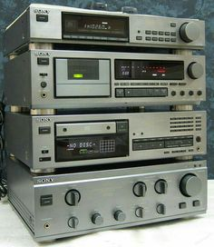 Hi Fi System, Audio System, Cool Office Gadgets, Tech Gadgets, Radios, Sony, Retro, New Electronic Gadgets, Stereo Amplifier