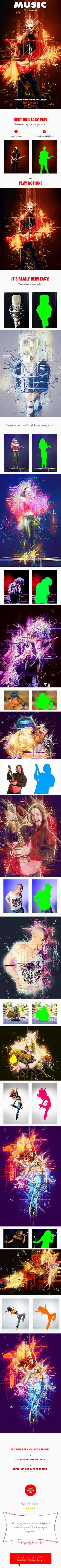 Music Photoshop Action - Photo Effects Actions #PSAction #Photoshop #PS #Graphicriver #PhotoEffects #Design #Art