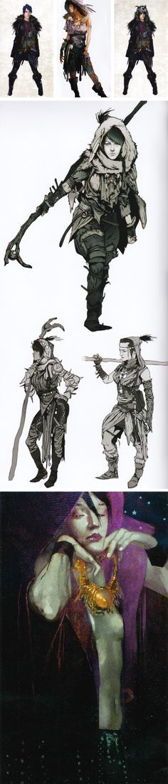 Morrigan concept art from The Art of Dragon Age: Inquisition