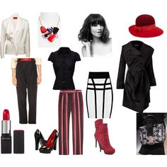 """""""Dramatic+Classic Personal Style"""" by irenabarat on Polyvore"""