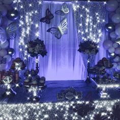 Sweet 16 Party Themes, Sweet 16 Party Decorations, Quince Decorations, Quinceanera Decorations, Butterfly Decorations, Quinceanera Party, Sweet 16 Parties, Themes For Quinceanera, Quince Themes