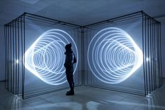 Daydream is an audiovisual installation by Nonotak Studio that generates space distortions.