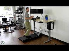 Sit/Stand Workstation Solution - Uplift Treadmill Desk - #StandUpDesk