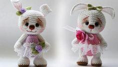Mesmerizing Crochet an Amigurumi Rabbit Ideas. Lovely Crochet an Amigurumi Rabbit Ideas. Crochet Dolls Free Patterns, Crochet Flower Patterns, Crochet Doll Pattern, Amigurumi Patterns, Doll Patterns, Crochet Designs, Knitting Patterns, Crochet Rabbit, Crochet Teddy