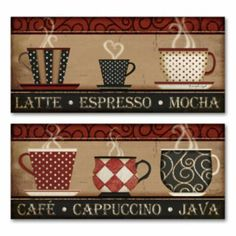 Coffee & Cappuccino 2-pc. Wall Art Set