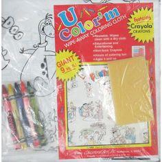 Flintstones Vintage U Color'm Wipe-Away Coloring Cloth with Crayons (1ct)