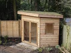 Outdoor corner shed timber garages summer houses for L shaped shed