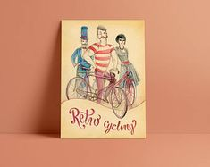 Retro cycling A3 poster - special price