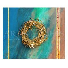 Κάδρο Με Αληθινό Στεφάνι Ελιάς Χρυσό Σε Πλάτη Με Χρώματα. Αποτελεί συμβολικό δώρο για άντρες και γυναίκες, για δώρο γάμου, δώρο για τους κουμπάρους σας ή ακόμα και ως εταιρικό δώρο για κάποιο σημαντικό πελάτη ή συνεργάτη σας, μιας και η ελιά αποτελεί σύμβολο γαλήνης, προστασίας, γονιμότητας. Θεϊκό δώρο. Δέντρο του καλού συνδεδεμένο με την αναγέννηση και το φως. Αποκτήστε το εύκολα πατώντας στον παρακάτω σύνδεσμο http://www.artistegifts.com/kadro-stefani-elias-xryso-plati-xromata.html