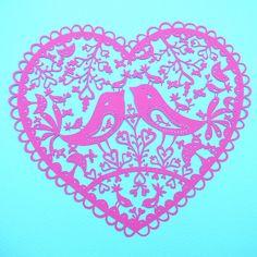 Bird Heart papercut | Flickr - Photo Sharing!