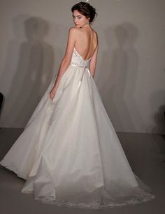 Dramatic A-line Sweetheart Chapel Train Woth Satin Wedding Dress With Lace Applique - Jim Hjelm Wedding Dresses, Wedding Gowns, Chapel Train, Lace Applique, Spring Dresses, Bridal Gowns, One Shoulder Wedding Dress, Dresser, Formal Dresses