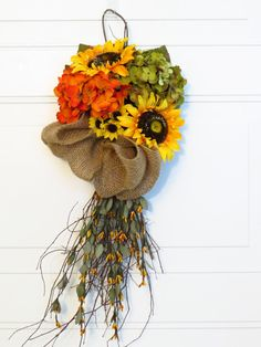 Fall+Wreath+Fall+Swag+Autumn+Door+Swag+Fall+Decor+by+Dazzlement,+$45.00