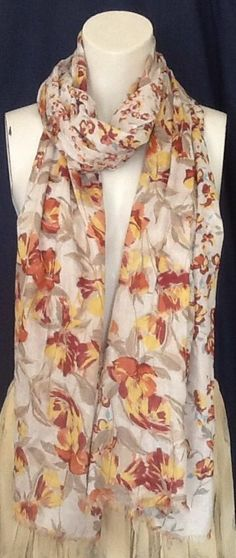 Pretty #Floral #Scarf by Marks and Spencer