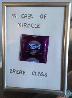In Case of Miracle... Break Glass