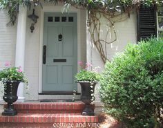 cottage and vine: My Door would be teal or burgandy