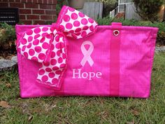 I'm ordering some for some very special ladies I know!   Pink large utility tote with the URU scarf!   I love the special ribbons we have now!!!
