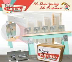 Stop having back pain when painting with the Speed Painting Tools Door Decker! The Door Decker allows you to suspend doors off the ground, stopping you from stooping over to paint!