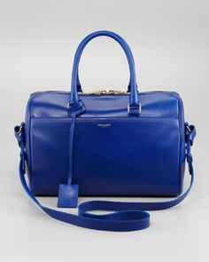 L039L Saint Laurent Duffel 6 Saint Laurent Bag, Blue