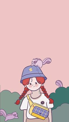 처처 Soft Wallpaper, Aesthetic Pastel Wallpaper, Kawaii Wallpaper, Cartoon Wallpaper Iphone, Cute Cartoon Wallpapers, Disney Wallpaper, 365 Kawaii, Dibujos Cute, Cartoon Art Styles