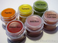 Using natural colors in lip balm