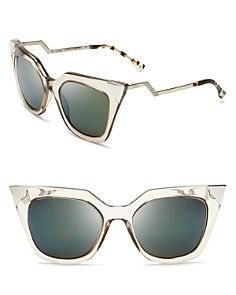 Fendi Mirrored Geometric Sunglasses
