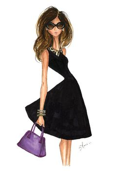 Fashion Illustration Print Kate Spade by anum @E Owens Montelongo