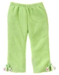 Gymboree Cheery All the Way Lime Green Fleece Pants w/ Puppy  12-18 months NWT Free Ship I Pay Slice