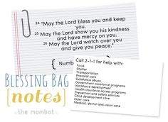 blessing bags | Blessing bags for the homeless | TheMombot.com | Prepared for Whatever