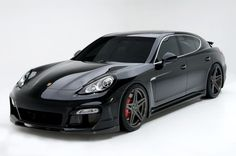 Porsche Panamera Turbo Black - Classy Sportscar Technology For Four ~ So Fly, So Smooth, So Boss!