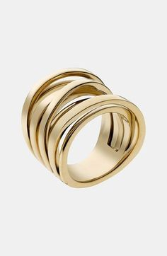MICHAEL Michael Kors Michael Kors 'Brilliance' Large Intertwined Ring available at #Nordstrom
