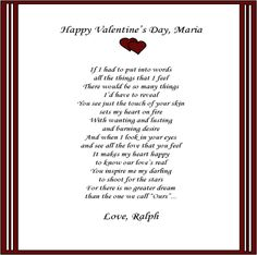 Love Poems for Valentine's Day | be my valentine love poem ...