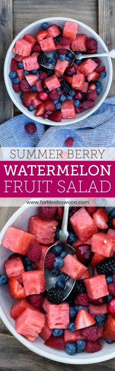 Berry Watermelon Fruit Salad   Fork Knife Swoon @forkknifeswoon
