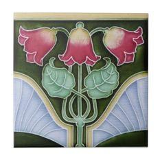 AN111 Art Nouveau Reproduction Antique Tile