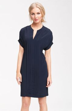 love this! // Taylor Dresses Pleated Crepe Shirtdress