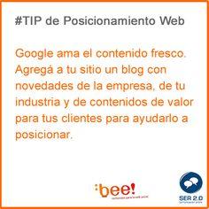 Tip posicionamiento web Bee! Comunicacion