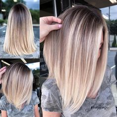 Golden Blonde Balayage for Straight Hair - Honey Blonde Hair Inspiration - The Trending Hairstyle Best Ombre Hair, Brown Ombre Hair, Ombre Hair Color, Hair Color Balayage, Blonde Ombre, Blonde Balayage, Thin Blonde Hair, Balayage Straight, Curly Hair